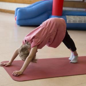 Photo of girl doing yoga