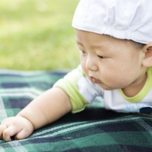 Photo of baby on blanket