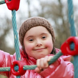 Photo of girl on rope climber