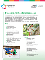 PDF of Tip Sheet for Outside Activities
