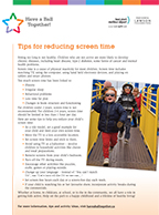 PDF of Tip Sheet for Screen Time