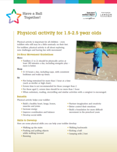 Physical Activity recommendations for toddlers